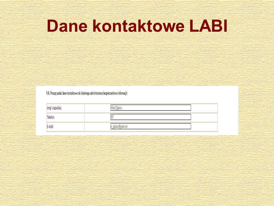 Dane kontaktowe LABI