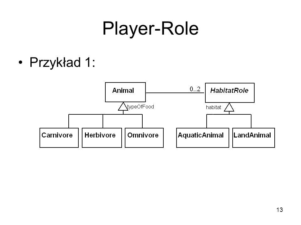 13 Player-Role Przykład 1: