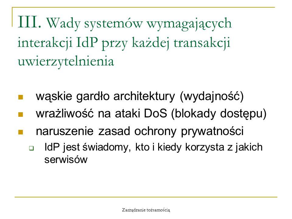 Zarządzanie tożsamością III.