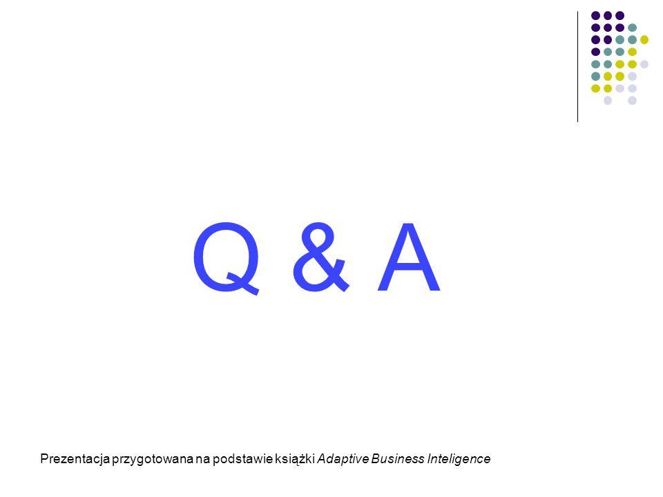 Q & A Prezentacja przygotowana na podstawie książki Adaptive Business Inteligence