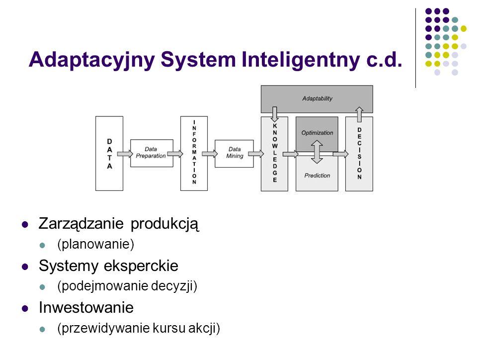 Adaptacyjny System Inteligentny c.d.