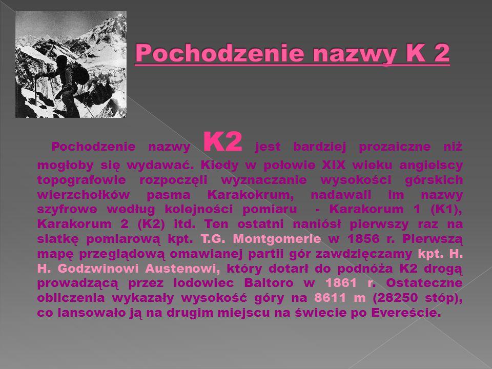 Pochodzenie nazwy K2 jest bardziej prozaiczne niż mogłoby się wydawać.