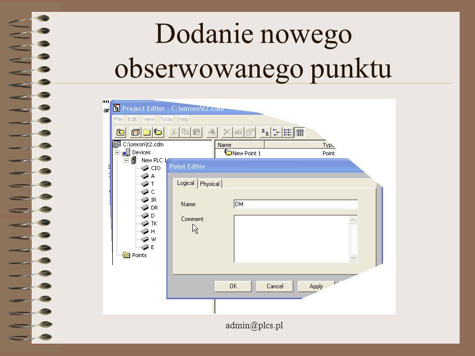 admin@plcs.pl Dodanie nowego obserwowanego punktu