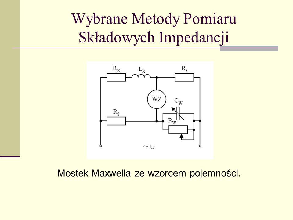 Wybrane Metody Pomiaru Składowych Impedancji Mostek Maxwella ze wzorcem pojemności.