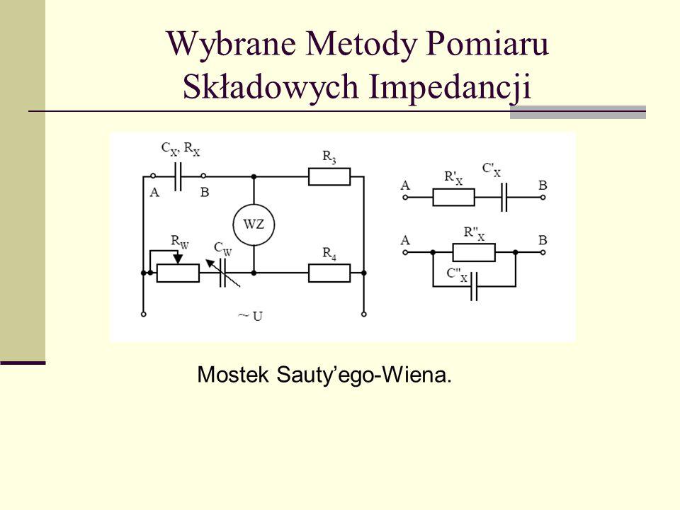 Wybrane Metody Pomiaru Składowych Impedancji Mostek Sauty'ego-Wiena.