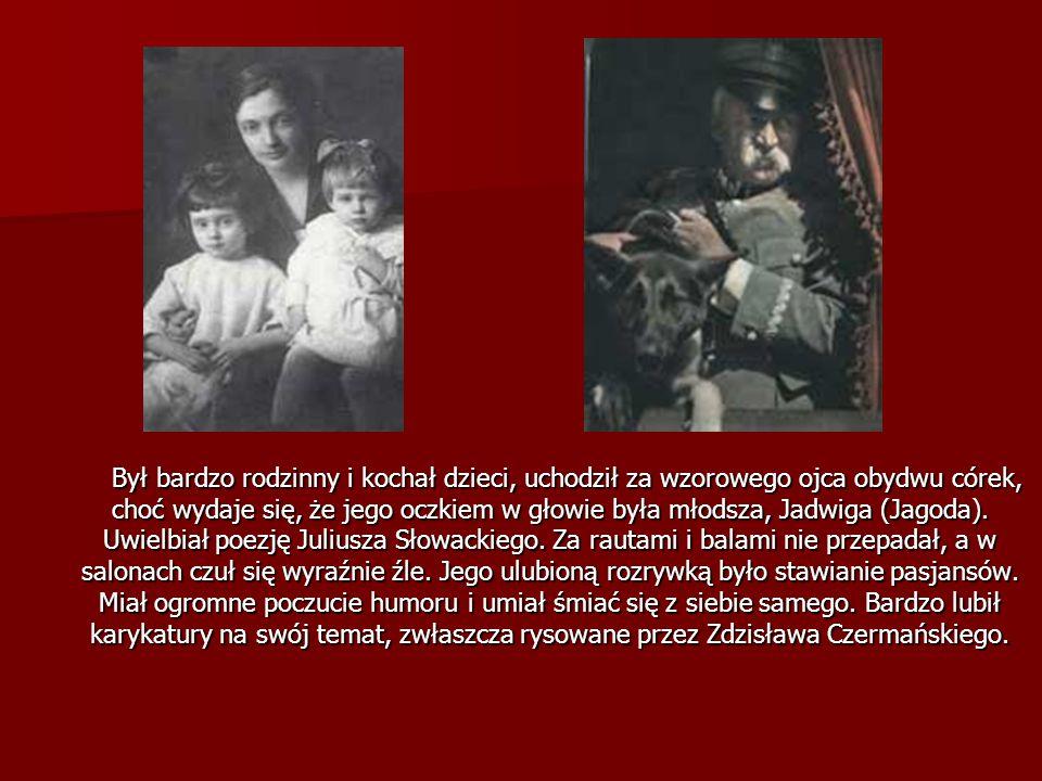 Był bardzo rodzinny i kochał dzieci, uchodził za wzorowego ojca obydwu córek, choć wydaje się, że jego oczkiem w głowie była młodsza, Jadwiga (Jagoda)