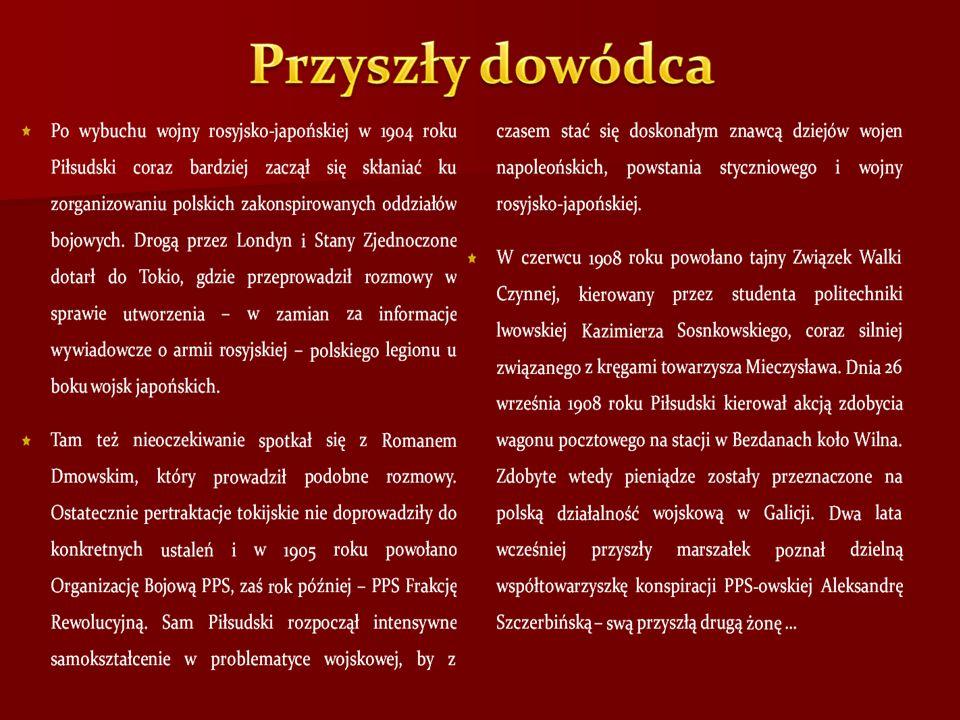 Ponowne zaostrzenie sytuacji międzynarodowej w 1913 roku skłoniło do zorganizowania w Stróży koło Limanowej kursu szkoły oficerskiej Związku Strzeleckiego, na którym Piłsudski wystąpił jako wykładowca.