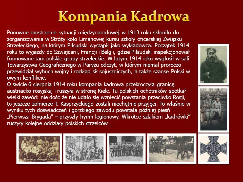 Ponowne zaostrzenie sytuacji międzynarodowej w 1913 roku skłoniło do zorganizowania w Stróży koło Limanowej kursu szkoły oficerskiej Związku Strzeleck