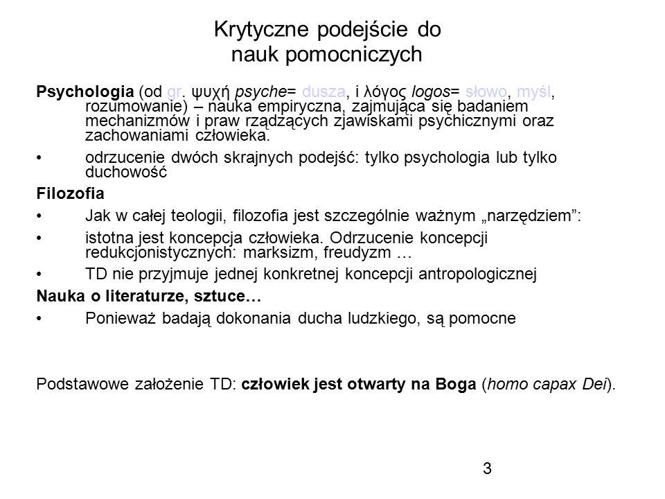 3 Krytyczne podejście do nauk pomocniczych Psychologia (od gr. ψυχή psyche= dusza, i λόγος logos= słowo, myśl, rozumowanie) – nauka empiryczna, zajmuj