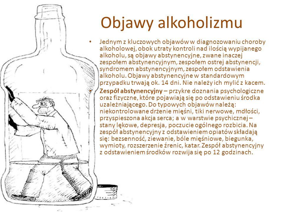 Grupa ryzyka Są pewne predyspozycje genetyczne związane z szybszym lub wolniejszym rozkładaniem alkoholu przez enzym dehydrogenazę alkoholową. Wyraźni