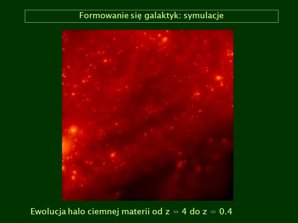 Formowanie się galaktyk: symulacje Ewolucja halo ciemnej materii od z = 4 do z = 0.4