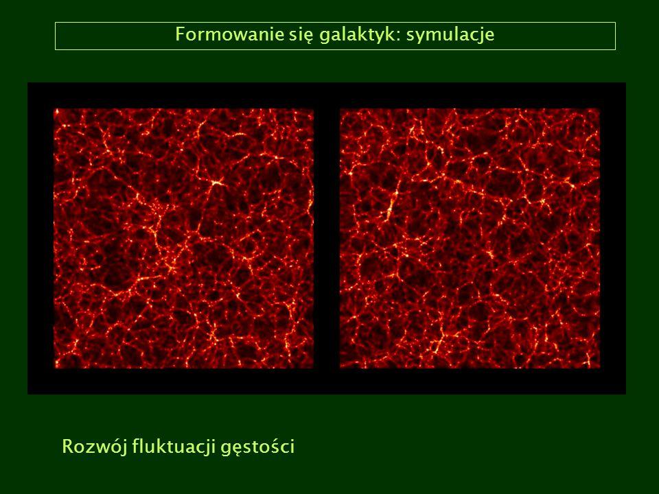 Formowanie się galaktyk: symulacje Rozwój fluktuacji gęstości