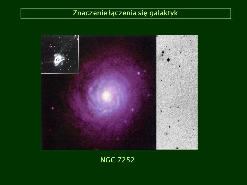 Znaczenie łączenia się galaktyk NGC 7252