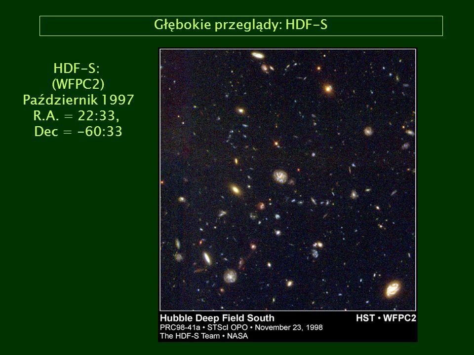 Głębokie przeglądy: HDF-S HDF-S: (WFPC2) Październik 1997 R.A. = 22:33, Dec = -60:33