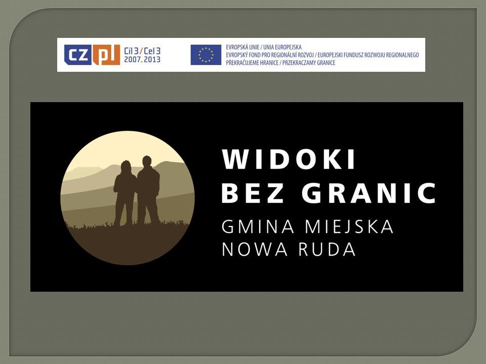 """ Projekt """"Widoki bez granic jest realizowany przez Gmin ę Radków, Park Narodowy Gór Sto ł owych, Miasto Broumov oraz Gmin ę Miejsk ą Nowa Ruda."""