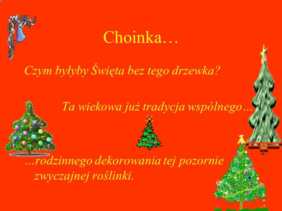 Choinka… Czym byłyby Święta bez tego drzewka.