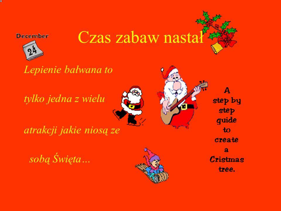 Czas zabaw nastał Lepienie bałwana to tylko jedna z wielu atrakcji jakie niosą ze sobą Święta…