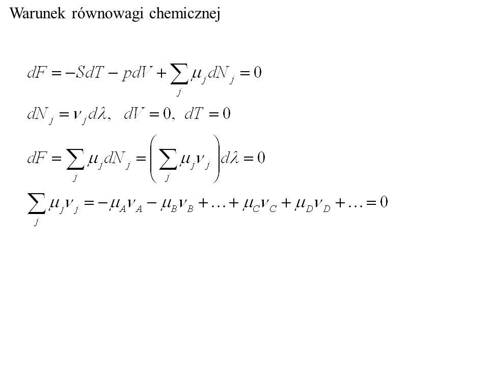 Warunek równowagi chemicznej