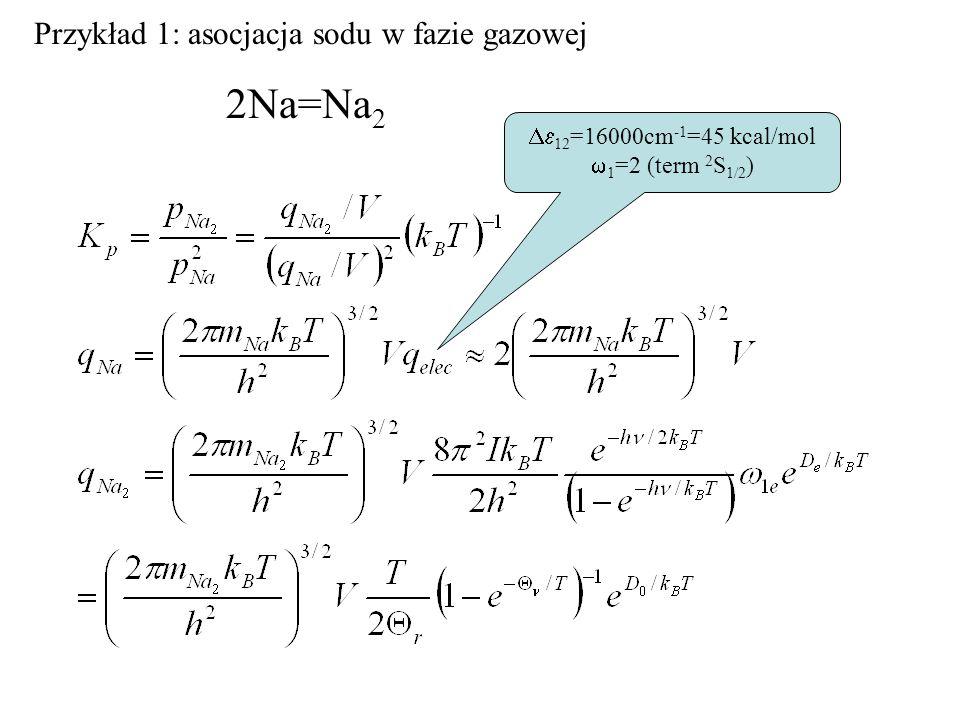 T(K)logK obl logK zm 100010.210.3 15005.7 20003.73.5 Porównanie obliczonych i zmierzonych wartości stałej równowagi reakcji syntezy wody w różnych temperaturach.