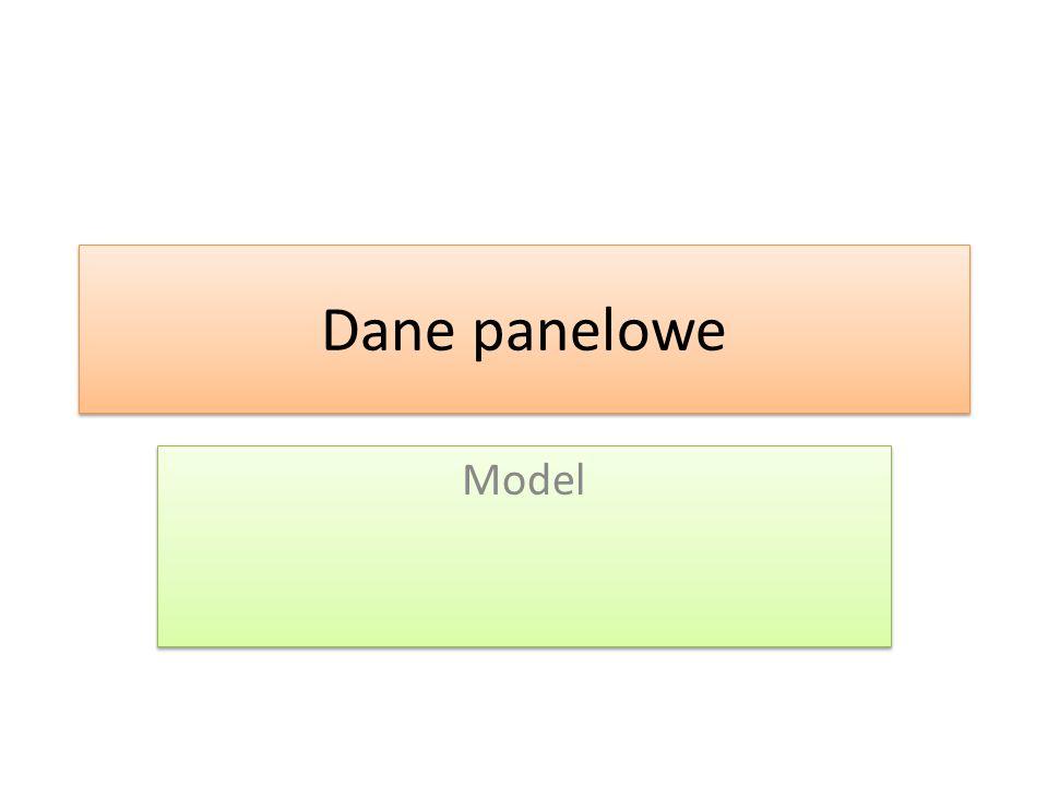 Dane panelowe Model