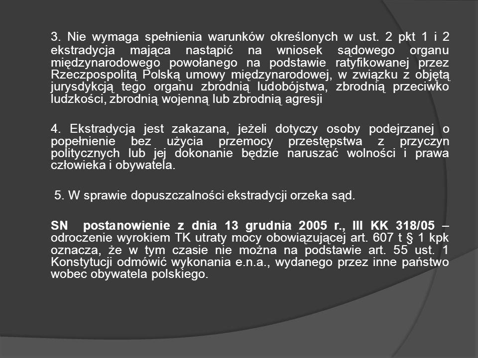 Ekstradycja obywatela polskiego na podstawie umowy międzynarodowej Art.