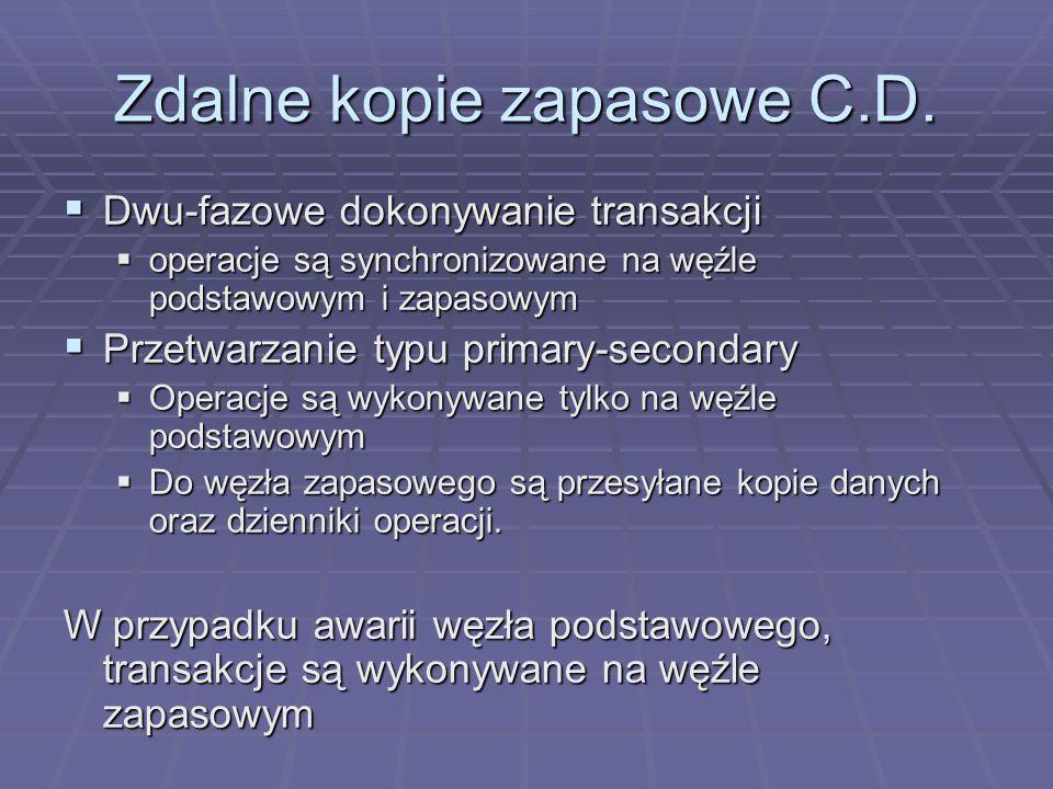 Zdalne kopie zapasowe C.D.