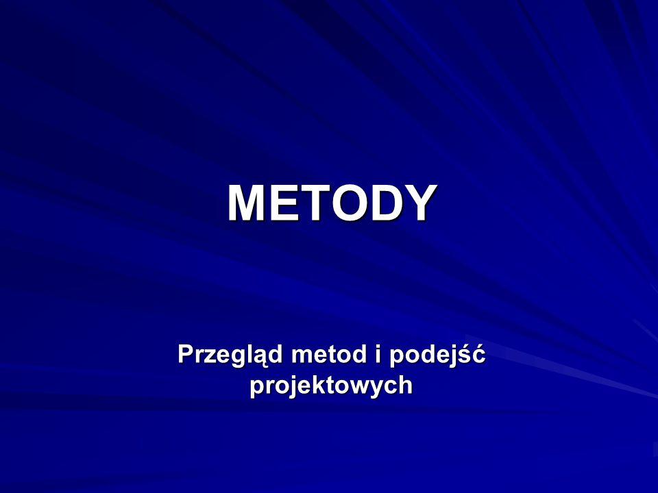 METODY Przegląd metod i podejść projektowych
