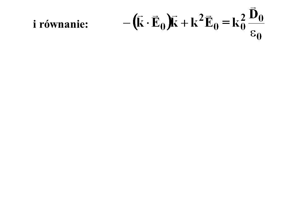 i równanie: