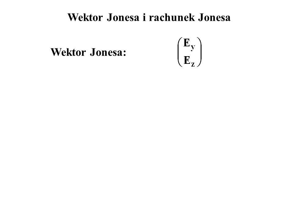 Wektor Jonesa: Wektor Jonesa i rachunek Jonesa