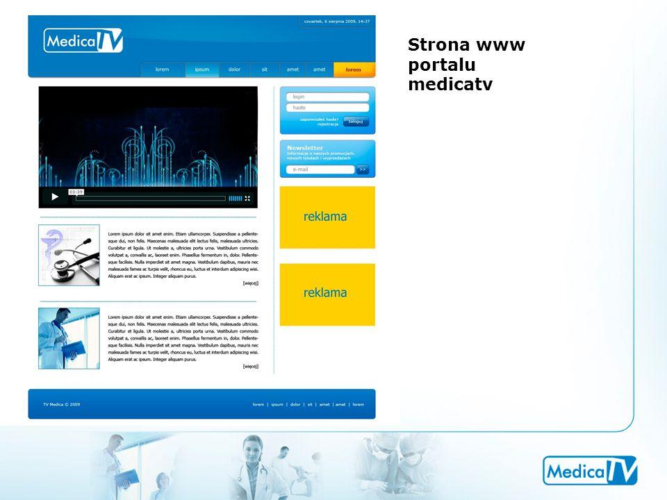 Strona www portalu medicatv