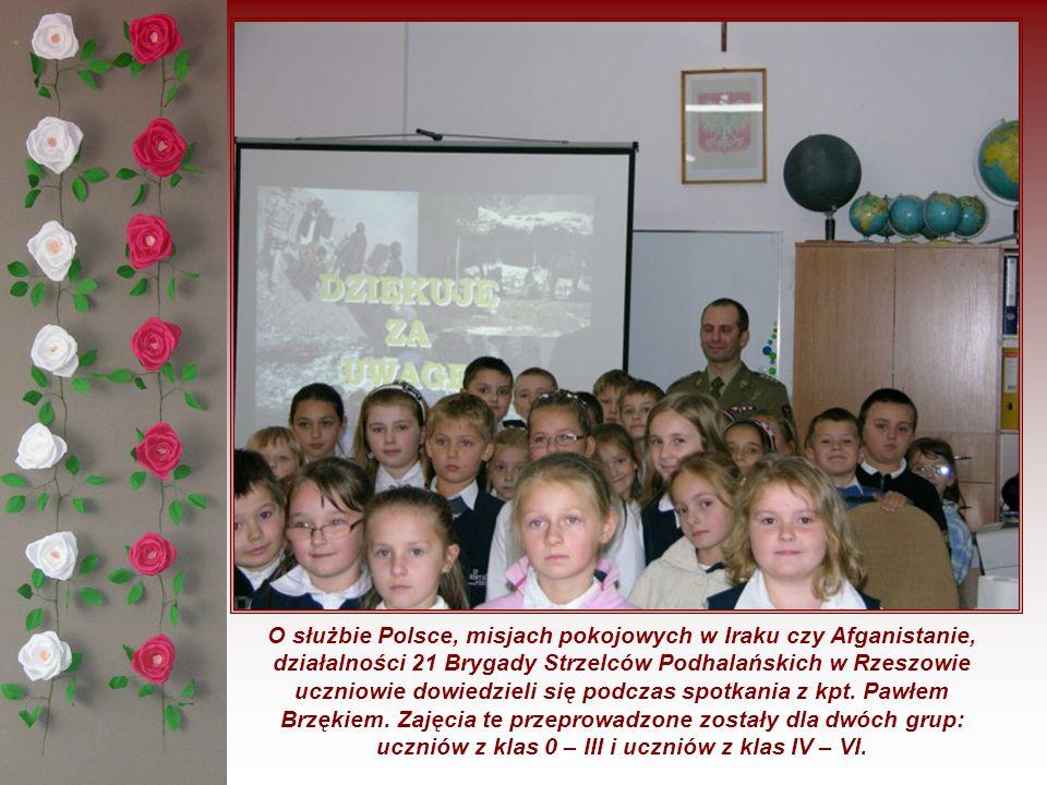 W dniu 10 listopada 2010 roku w poszczególnych klasach – 0, I, II, III, IV, V i VI przeprowadzono lekcje historii.