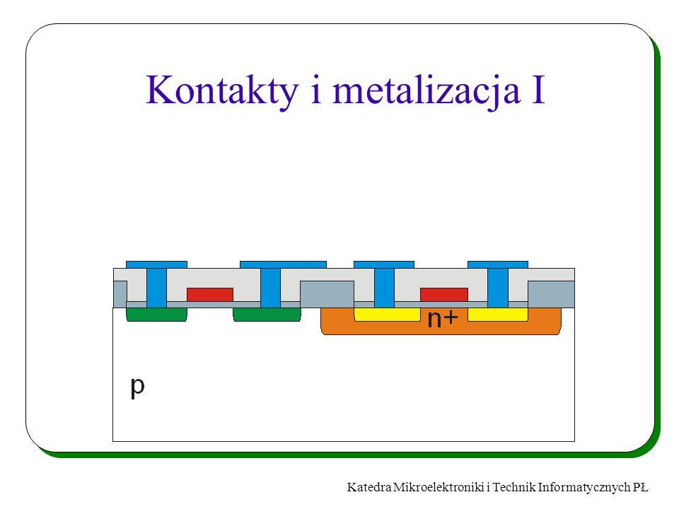 Katedra Mikroelektroniki i Technik Informatycznych PŁ Kontakty i metalizacja I