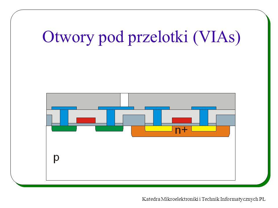 Katedra Mikroelektroniki i Technik Informatycznych PŁ Otwory pod przelotki (VIAs)