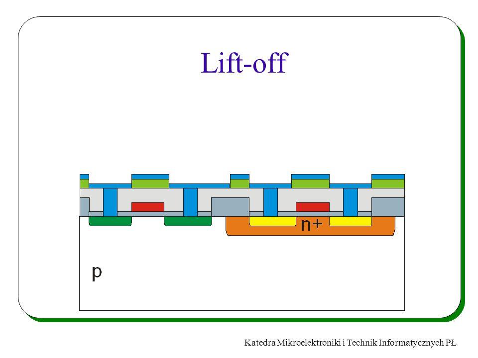 Katedra Mikroelektroniki i Technik Informatycznych PŁ Lift-off