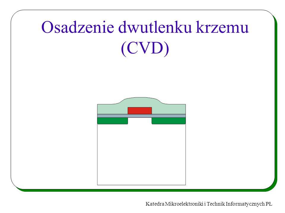 Katedra Mikroelektroniki i Technik Informatycznych PŁ Osadzenie dwutlenku krzemu (CVD)
