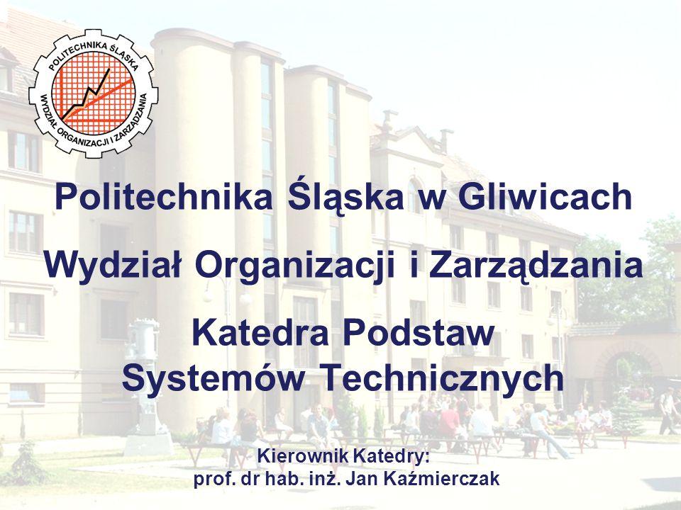 Katedra Podstaw Systemów Technicznych Zakłady funkcjonujące w ramach Katedry i ich władze Zakład Systemów Zarządzania Zadaniami Inżynierskimi Kierownik: prof.
