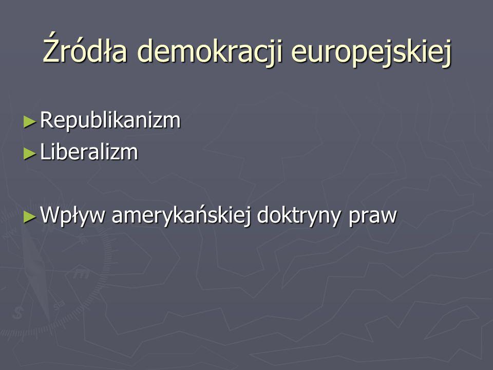 Źródła demokracji europejskiej ► Republikanizm ► Liberalizm ► Wpływ amerykańskiej doktryny praw