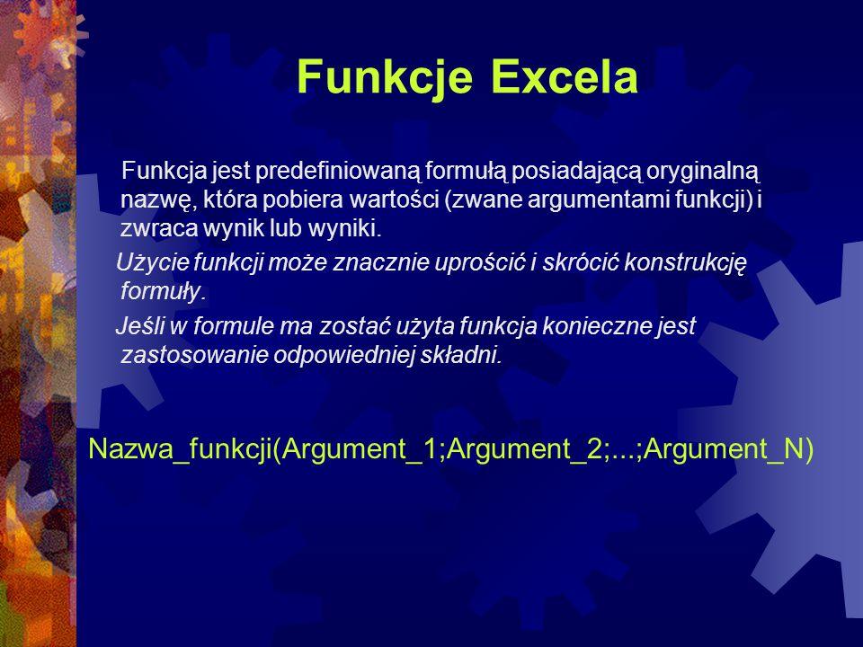 funkcje Excela - podstawy 2000