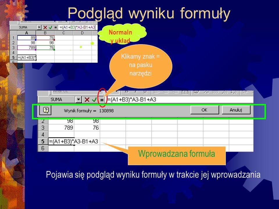 """Formuła podająca nazwę aktualnego pliku roboczego =KOMÓRKA(""""filename )"""