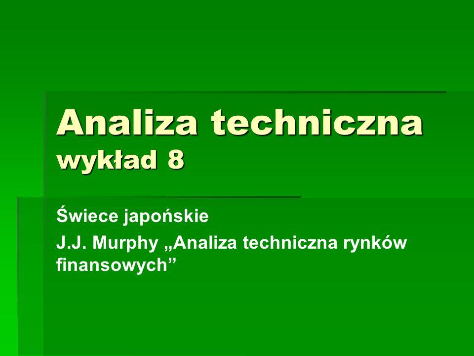 """Analiza techniczna wykład 8 Świece japońskie J.J. Murphy """"Analiza techniczna rynków finansowych"""""""