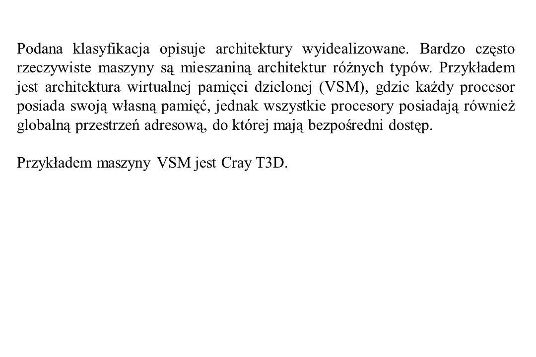 Podana klasyfikacja opisuje architektury wyidealizowane.