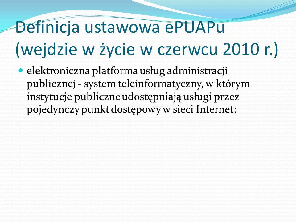 EPUAP Elektroniczna Platforma Usług Administracji Publicznej