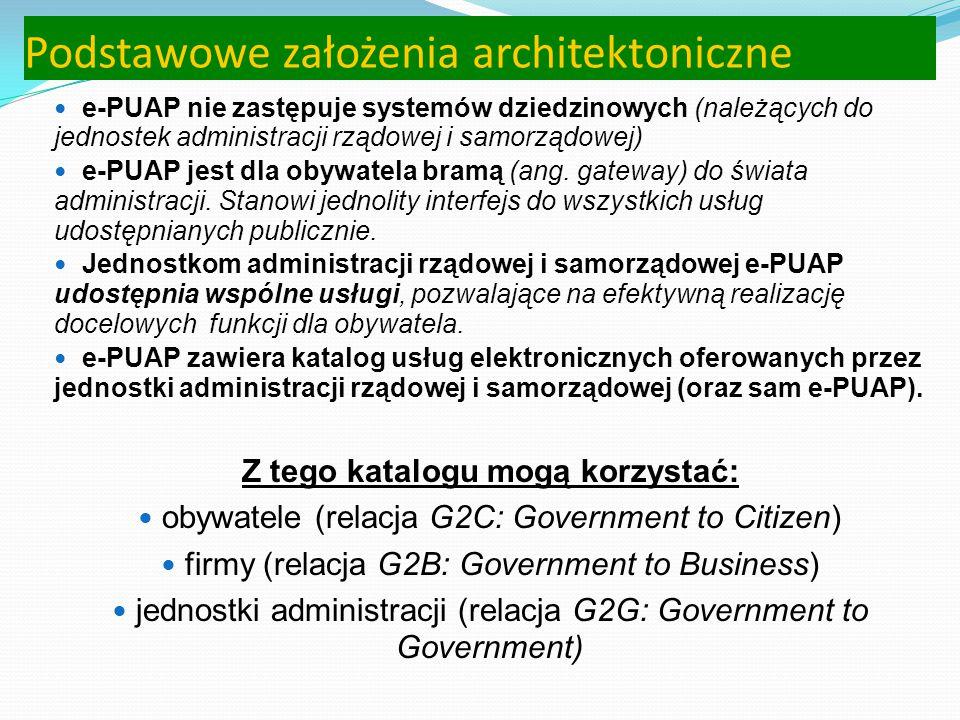 Definicja ustawowa ePUAPu (wejdzie w życie w czerwcu 2010 r.) elektroniczna platforma usług administracji publicznej - system teleinformatyczny, w któ