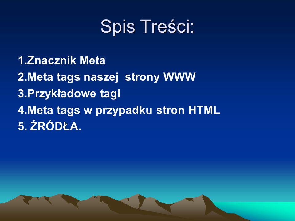 1.Znaczniki meta (ang.
