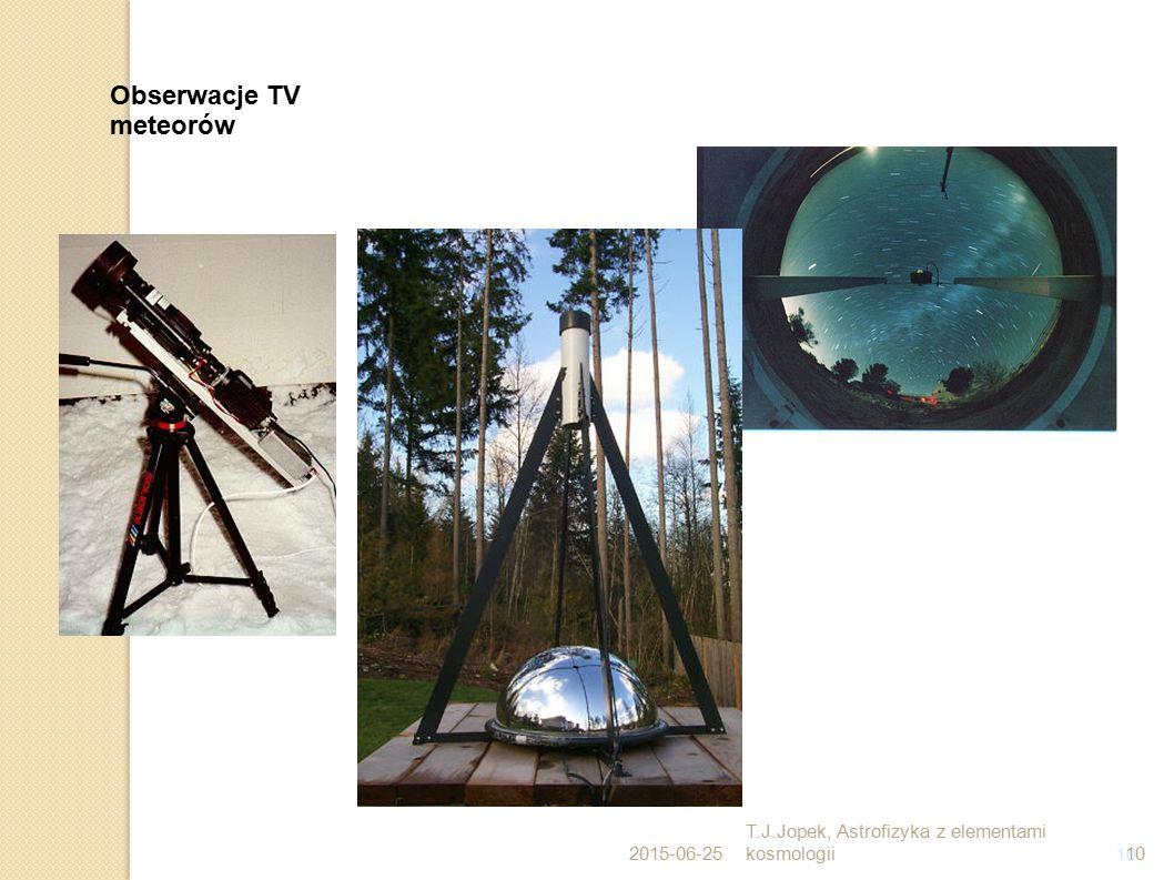 10 Obserwacje TV meteorów 2015-06-25 T.J.Jopek, Astrofizyka z elementami kosmologii10