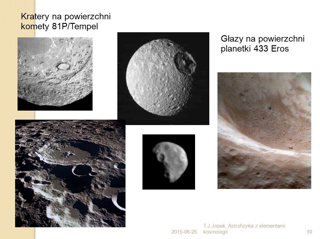 19 Głazy na powierzchni planetki 433 Eros Kratery na powierzchni komety 81P/Tempel 2015-06-25 T.J.Jopek, Astrofizyka z elementami kosmologii19