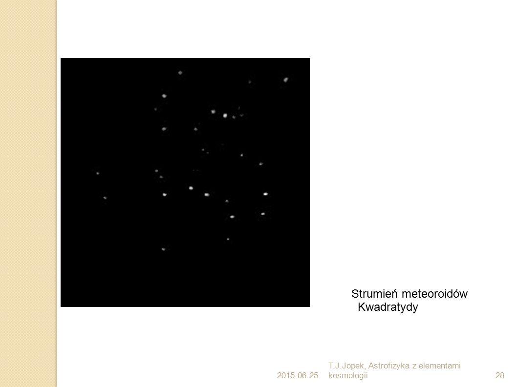 2015-06-25 T.J.Jopek, Astrofizyka z elementami kosmologii28 Strumień meteoroidów Kwadratydy