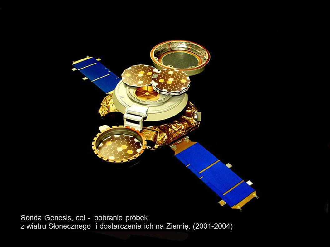 2015-06-25 T.J.Jopek, Astrofizyka z elementami kosmologii38 Sonda Genesis, cel - pobranie próbek z wiatru Słonecznego i dostarczenie ich na Ziemię. (2