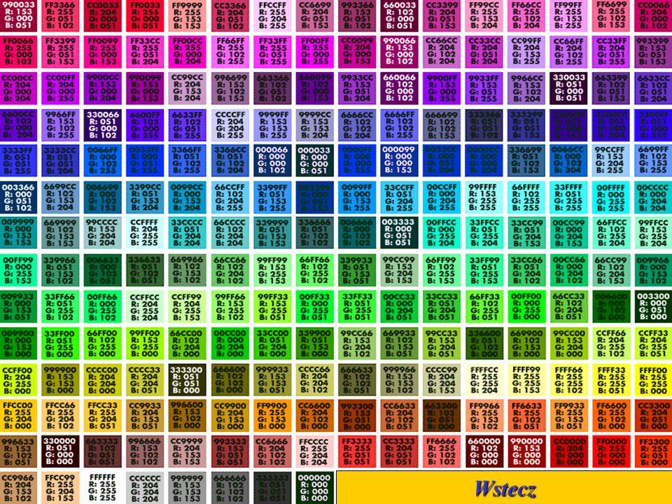 Symbole kolorów Wstecz