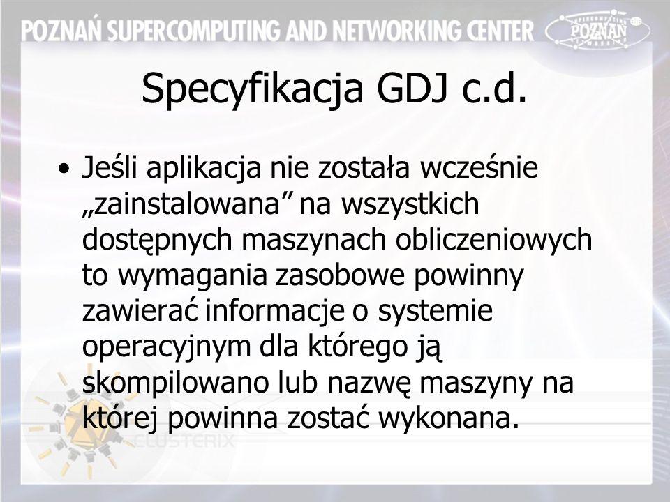 Specyfikacja GDJ c.d.